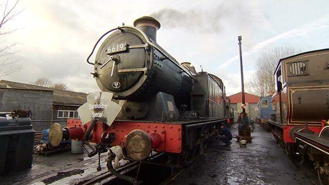 Kent and East Sussex Railway line locomotive