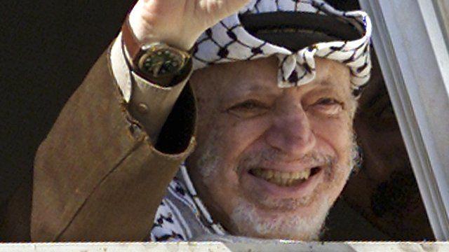The late Palestinian leader Yasser Arafat
