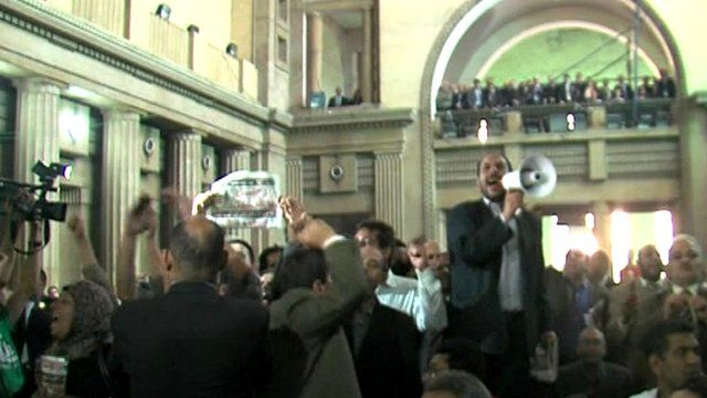 Protests by legal workers in Egypt