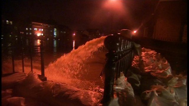 Pumps and sandbags in York
