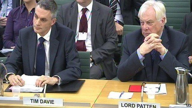 Tim Davie (left) and Lord Patten