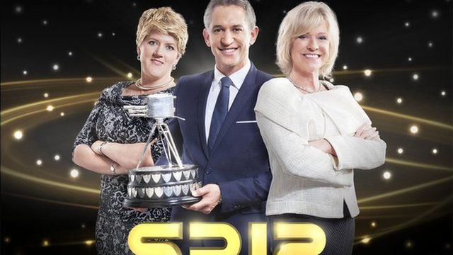 Sports Personality presenters Clare Balding, Gary Lineker and Sue Barker
