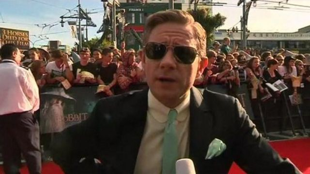 Martin Freeman at the world premiere of The Hobbit: An Unexpected Journey