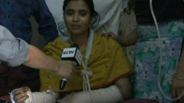 Victim of Bangladesh fire