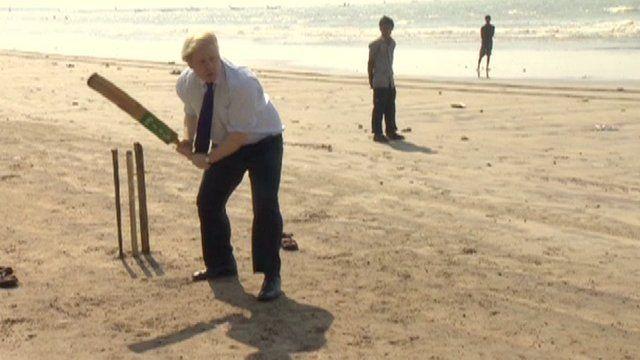 Boris Johnson in Mumbai