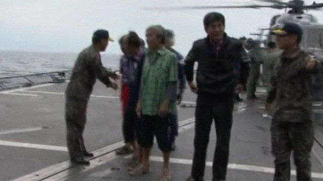 Freed South Korean sailors