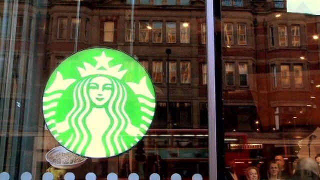 Starbucks coffee shop window