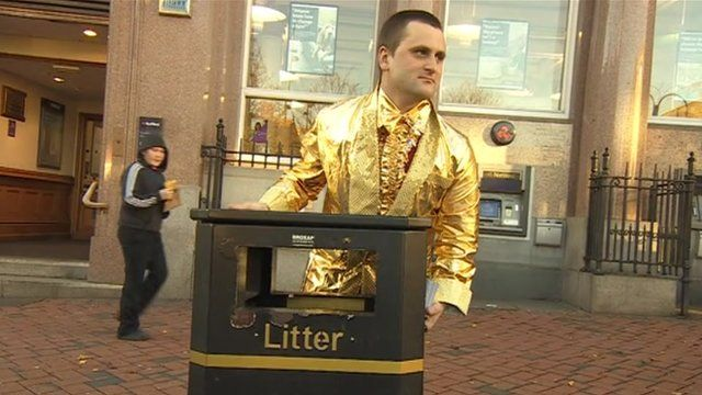 The scheme aims to reward people for using litter bins in Derby.