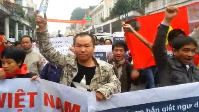 Anti-China protests in Hanoi