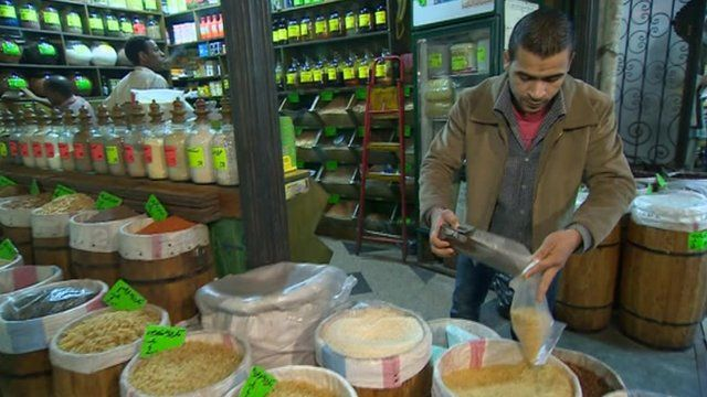 Food stall in Cairo market