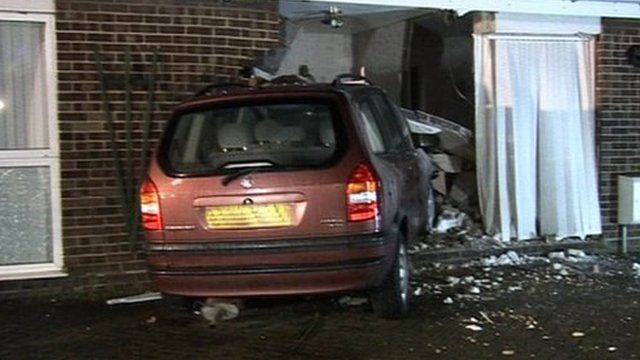 Bungalow car crash