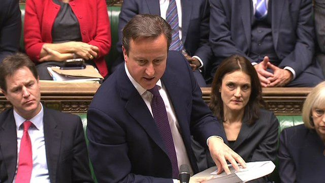 David Cameron with report