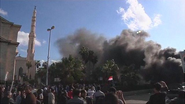 Smoke from clashes in Alexandria