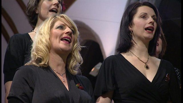 Plymouth Military Wives' Choir performed