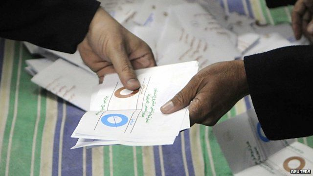 Ballot papers in Egypt