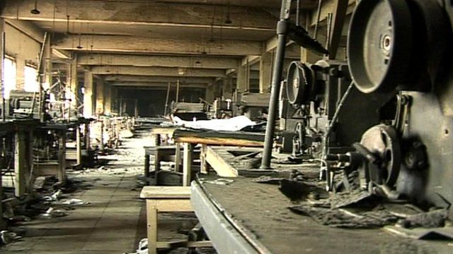Factory floor after the fire