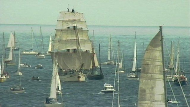 Tall ships in Falmouth in 2008