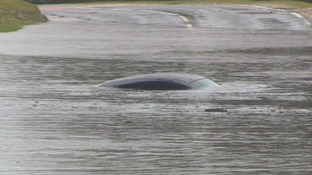 Submerged Porsche, in Brockenhurst, Hampshire