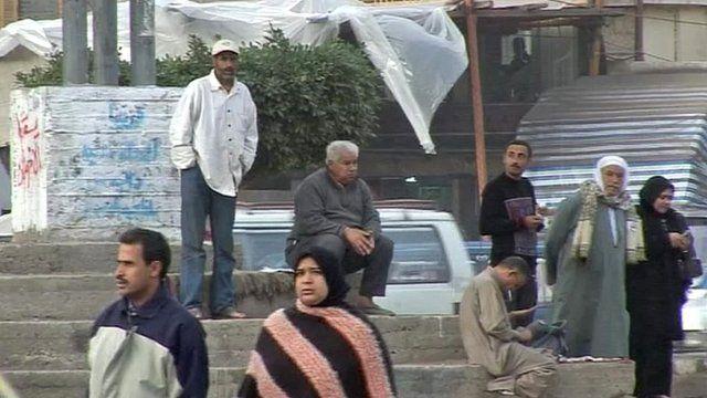 Street in Egyptian city of Mahalla