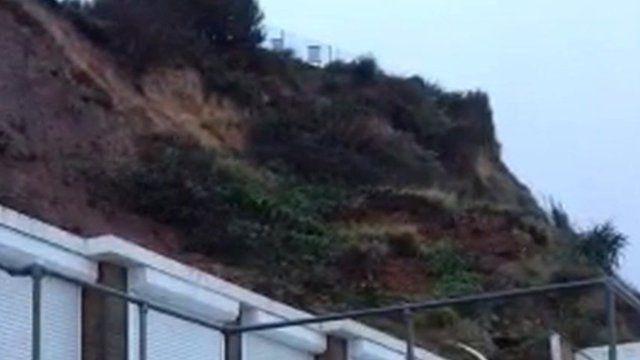 The landslide at Burlington Chine, Swanage