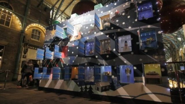 Check out the giant advent calendar made from over 600,000 Lego bricks