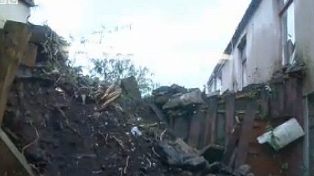 Rubble is up to the bedroom windows of some properties.