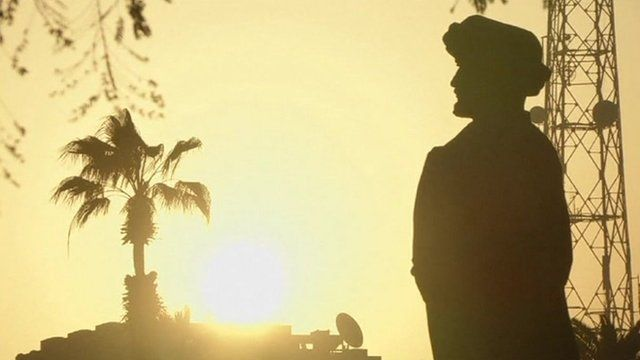 Silhouette of a man in Egypt