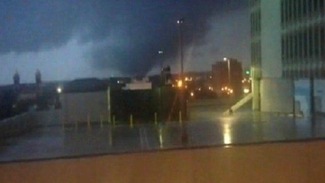 Tornadoes filmed in Alabama in the US