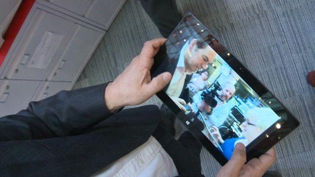 Rory Cellan-Jones holding tablet