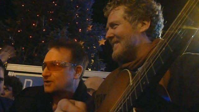 Bono and Glen Hansard