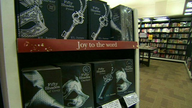 Copies of 50 Shades books in bookshop