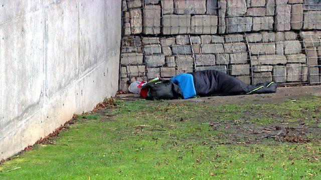 Person sleeping rough