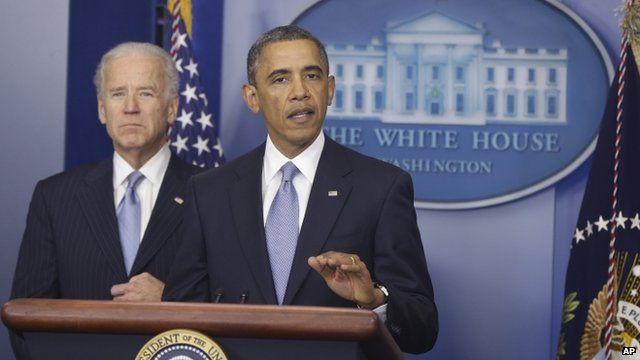 President Barack Obama with Vice President Joe Biden