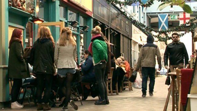 Customers in Brixton Market
