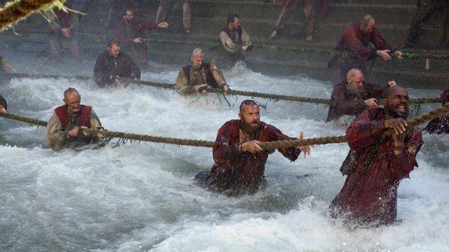 Hugh Jackman as Jean Valjean in a scene from Les Miserables