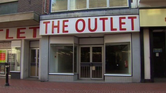 An empty shop in Wrexham