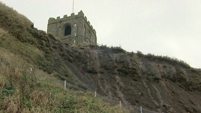 Eroded cliff in Whitby