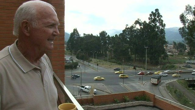 An American immigrant looks out over Cuenca