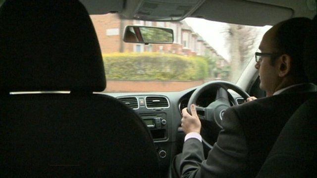 Ramzan Karmali driving