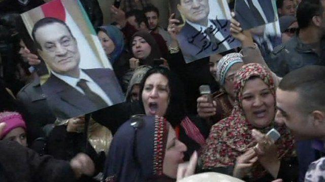 Mubarak supporters