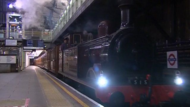 Steam train on the Tube