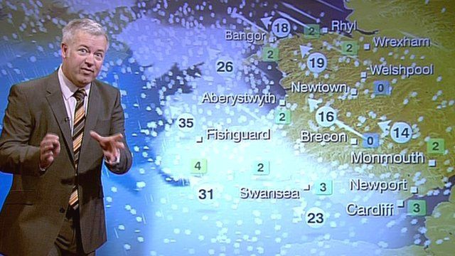 BBC meteorologist Derek Brockway gives the weather forecast for the rest of the week
