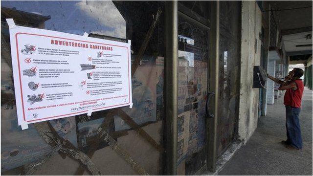 Health warning in Havana