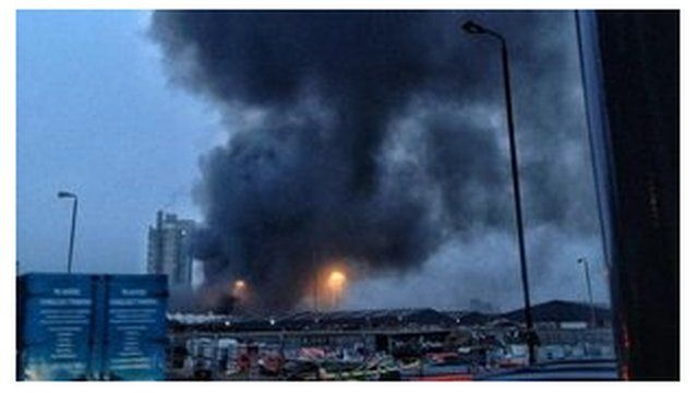 Helicopter crash in south London.