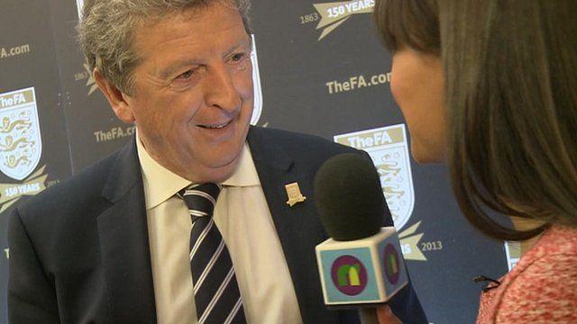 Roy Hodgson speaking to Newsround
