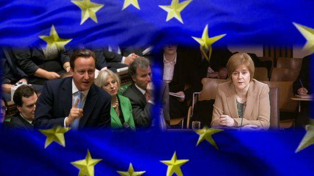 David Cameron and Nicola Sturgeon