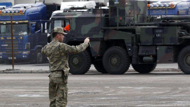 Patriot missiles arrive in Turkey