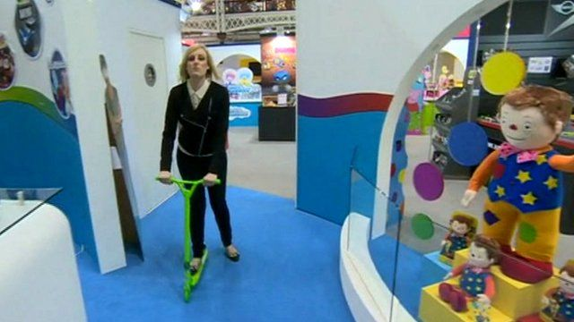 Steph McGovern at the Olympia toy fair