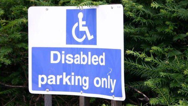 disabled parking