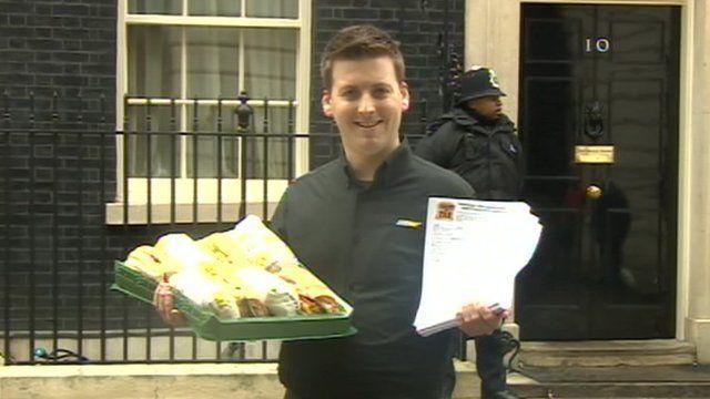 Subway's David Cameron in Downing Street